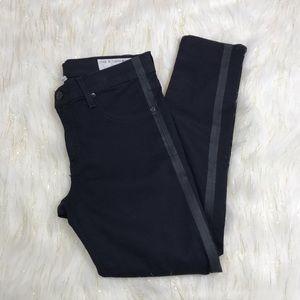 Rag & Bone Zipper Capri Black Cropped Jeans